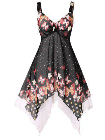 d15d5b76fab Plus Size Polka Dot Handkerchief Dress
