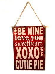 Valentine's Day Letter Wooden Hanging Sign -