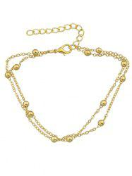 Double Layered Small Metal Beads Anklet -