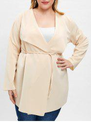 Open Front Plus Size Coat -