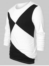 Two Tone Round Neck Top -