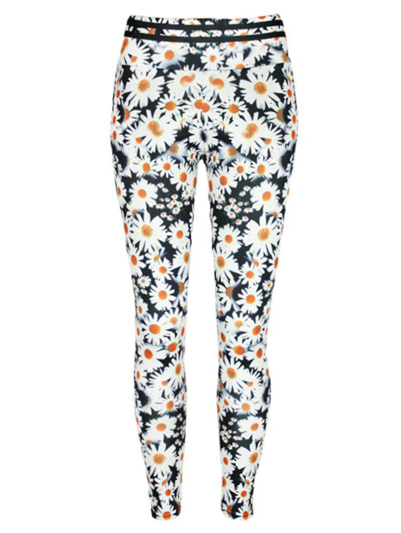 Online Daisy Print High Waist Leggings