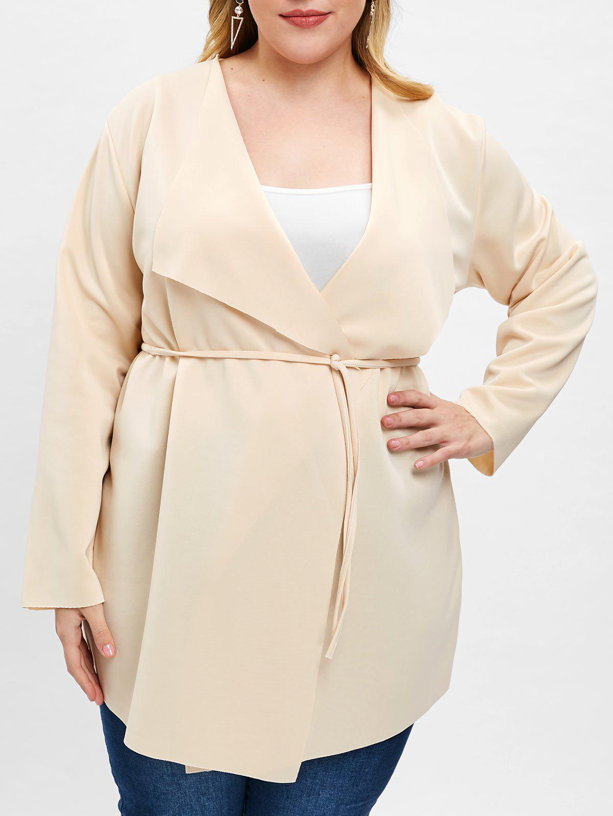 Store Open Front Plus Size Coat