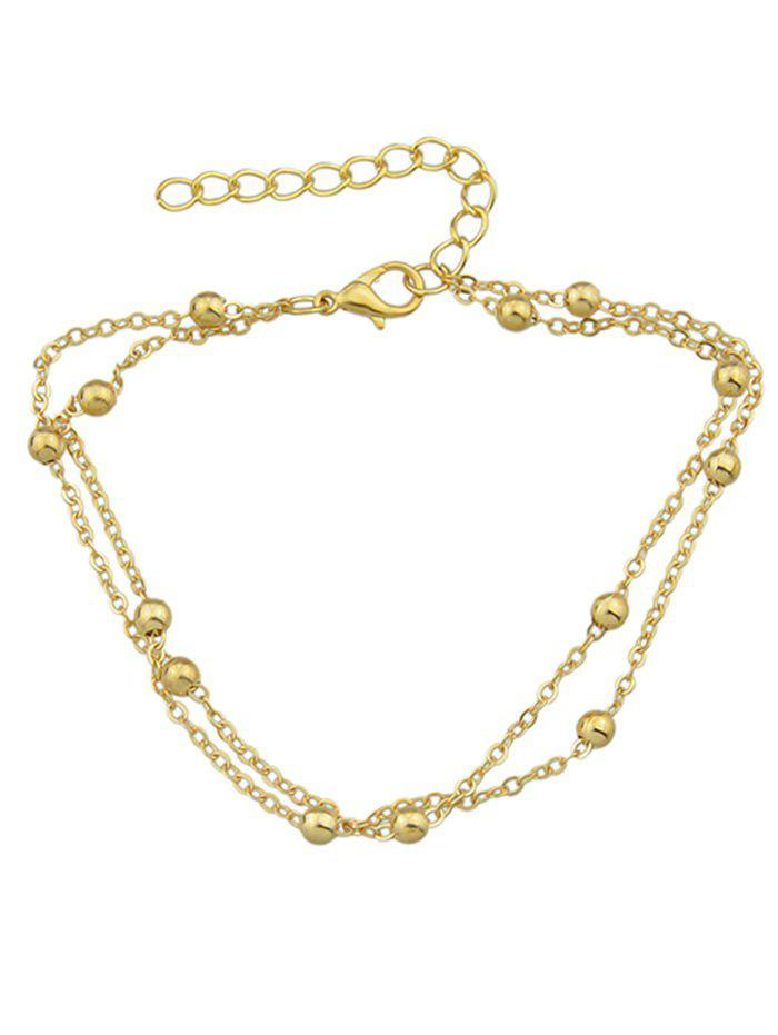 Sale Double Layered Small Metal Beads Anklet