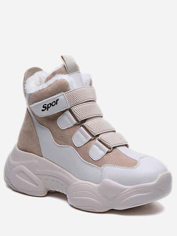 Discount High Top Hook Loop Platform Sneakers