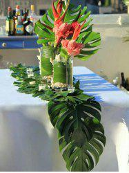 12 Pcs Palm Leaf Pattern Table Runner -