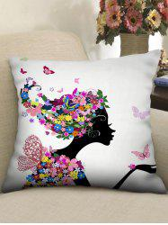 Butterfly Flower Women Printed Pillowcase -