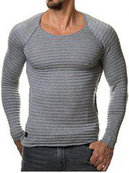 Texture Raglan Sleeves T-shirt -