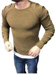 Raglan Sleeves Pullover Ripped Sweater -