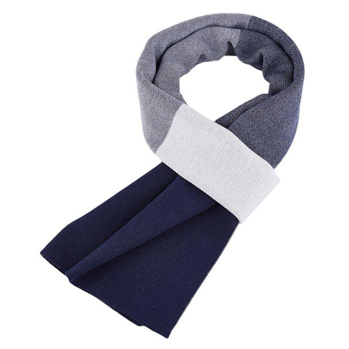 Outfit Autumn And Winter New Men's Scarf Europe And The United States High-end Leisure Lattice Skin Thickening Wool Korean Version Of The Warm Scarf