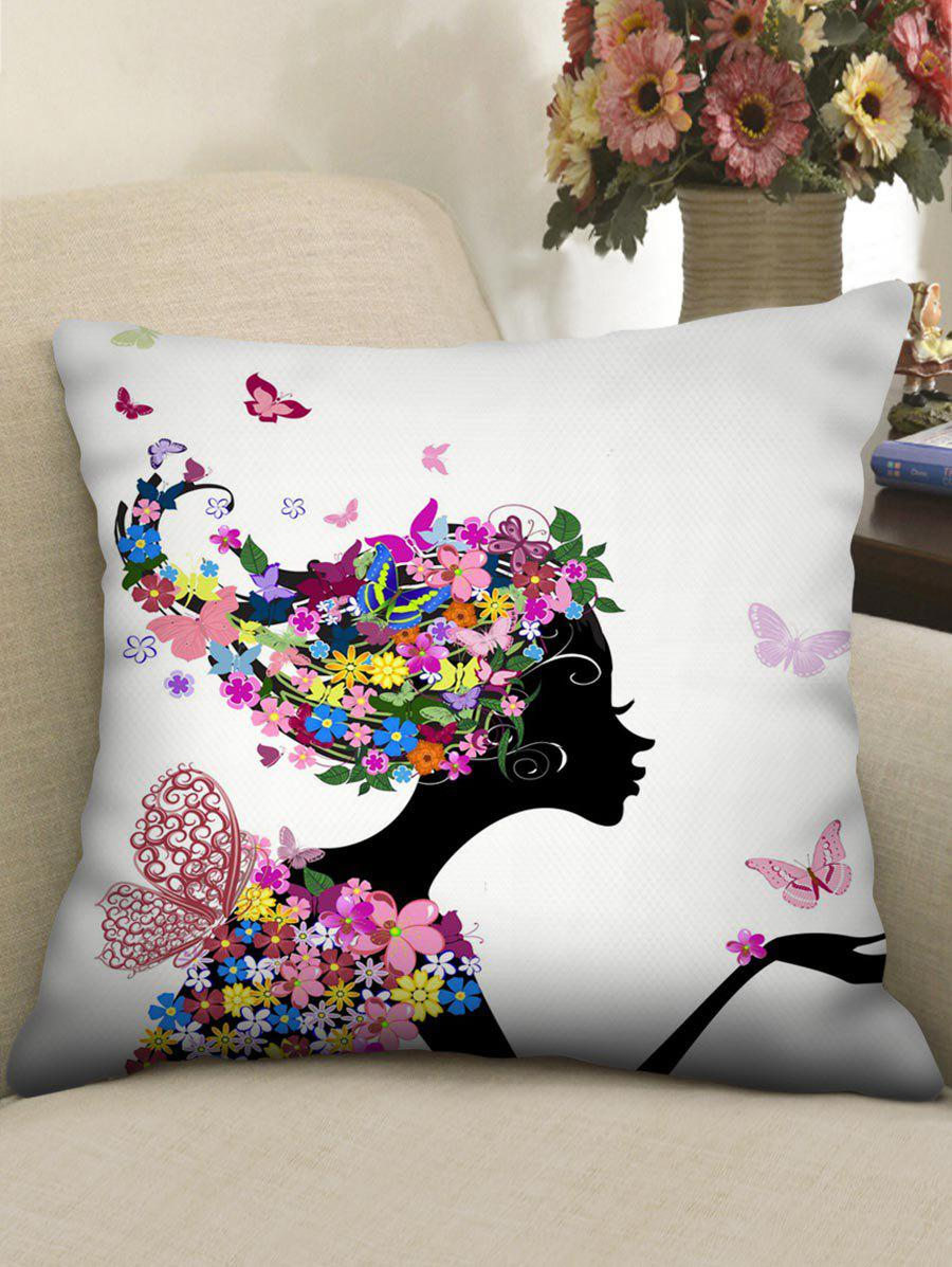 Cheap Butterfly Flower Women Printed Pillowcase