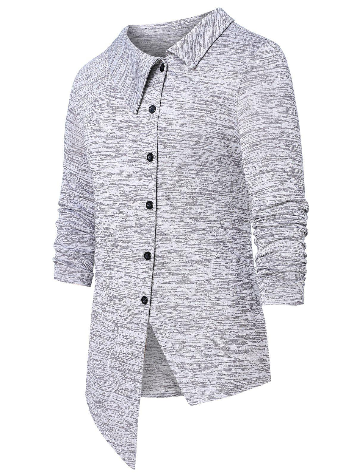 Shops Asymmetric Space Dye Button Up Cardigan