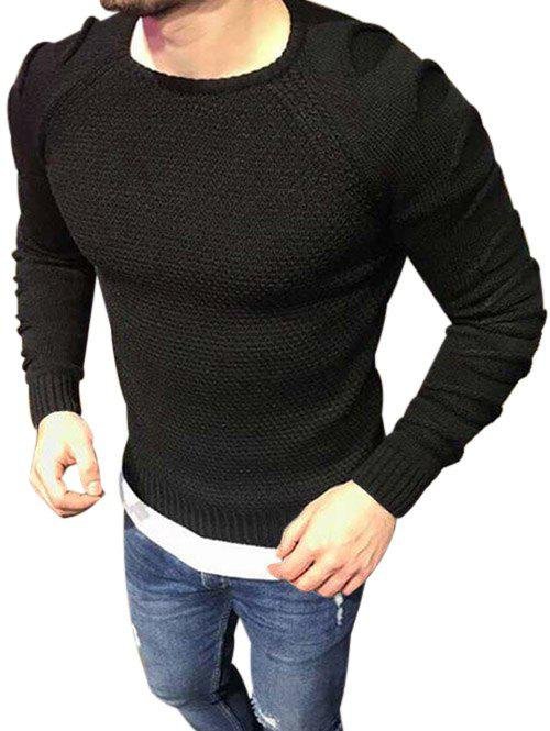 Outfits Raglan Sleeves Pullover Ripped Sweater