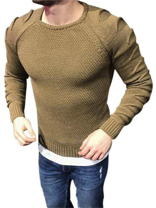Fancy Raglan Sleeves Pullover Ripped Sweater