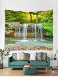 Forest Stream Print Tapestry Wall Hanging Art Decoration -