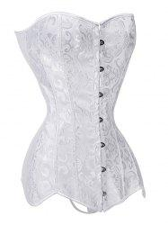 Lace-up Push Up Jacquard Corset -