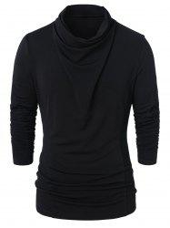 Cowl Neck Long Sleeve Solid Top -
