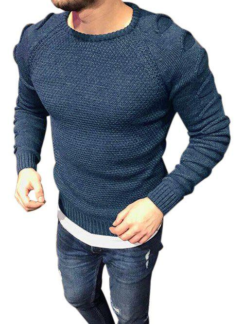 Trendy Raglan Sleeves Pullover Ripped Sweater