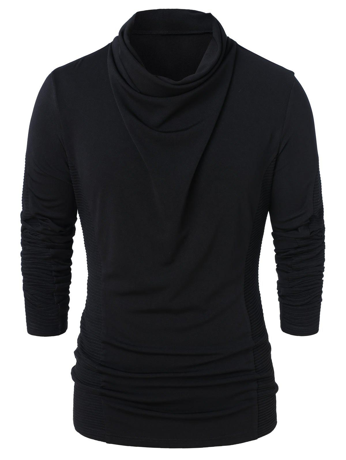 Discount Cowl Neck Long Sleeve Solid Top