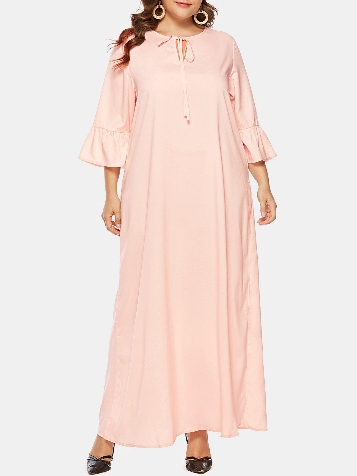 Shops Plus Size Ruffle Long Dress