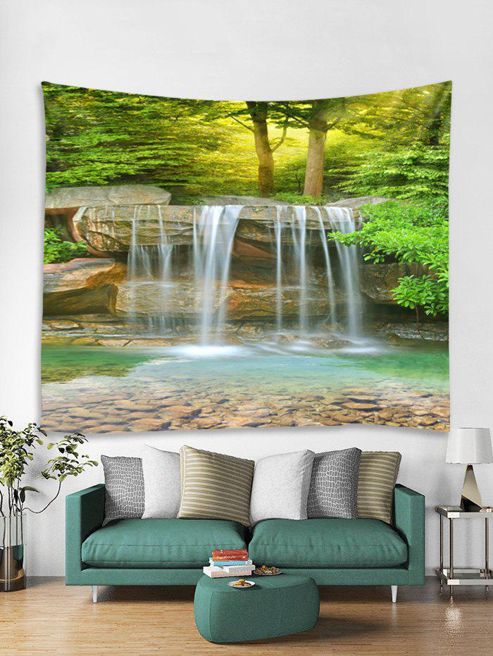 Online Forest Stream Print Tapestry Wall Hanging Art Decoration