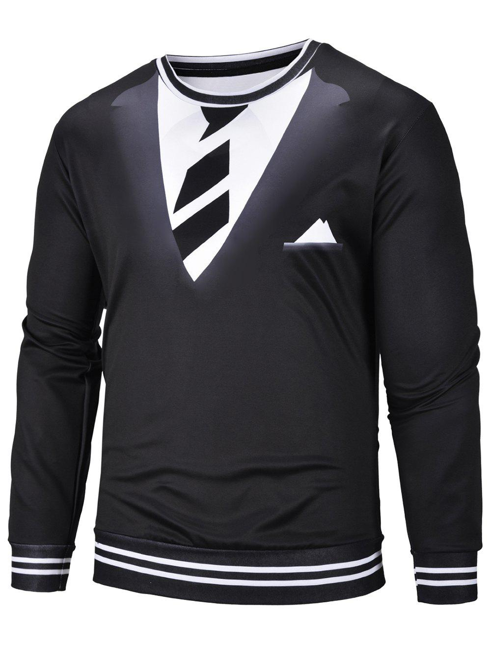 Hot 3D Tie Suit Print Long Sleeve Sweatshirt