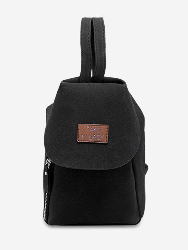 Fashion Letter Patchwork Convertible Backpack