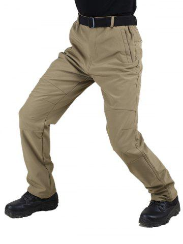 Long Straight Solid Color Plush Pants