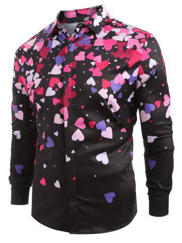 Small Love Hearts Print Long Sleeve Shirt