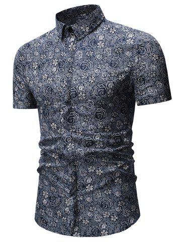 Floral Printed Short Sleeves Casual Shirt