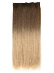Long Ombre Straight Synthetic Chip-in Hair Extension -