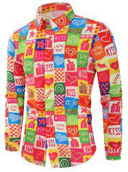 Valentine's Day Heart Gifts Print Long Sleeves Shirt -
