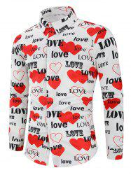 Love Letters Heart Printed Valentine's Day Shirt -