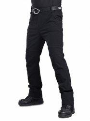 Long Straight Solid Color Plush Casual Pants -