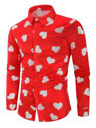 Love Heart Print Valentine's Day Shirt -