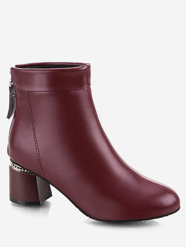 Unique Fold Over PU Ankle Boots