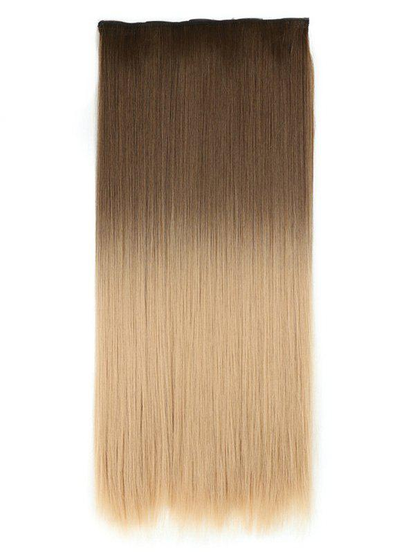 Unique Long Ombre Straight Synthetic Chip-in Hair Extension