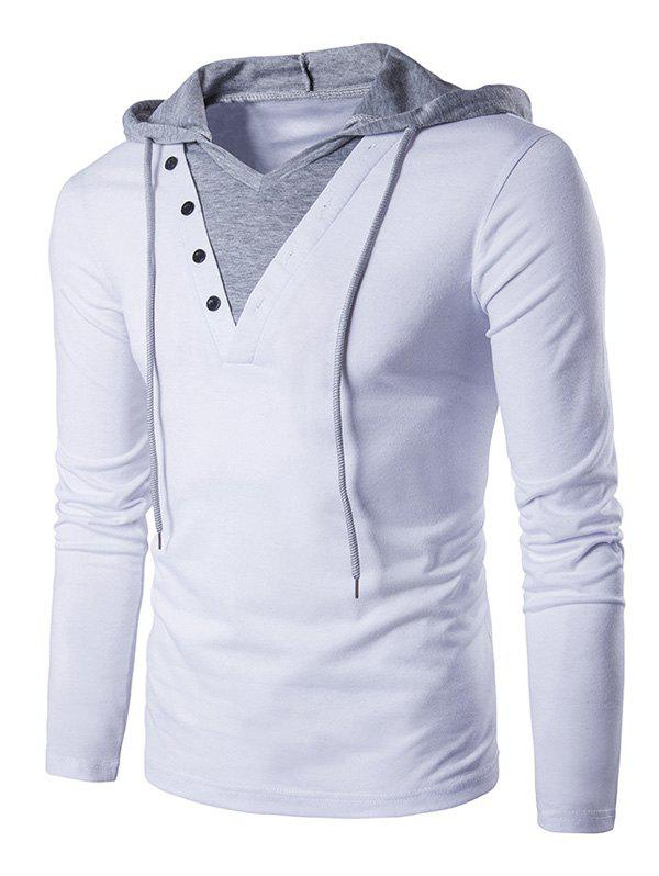 Latest Drawstring Hooded Long Sleeve T-shirt