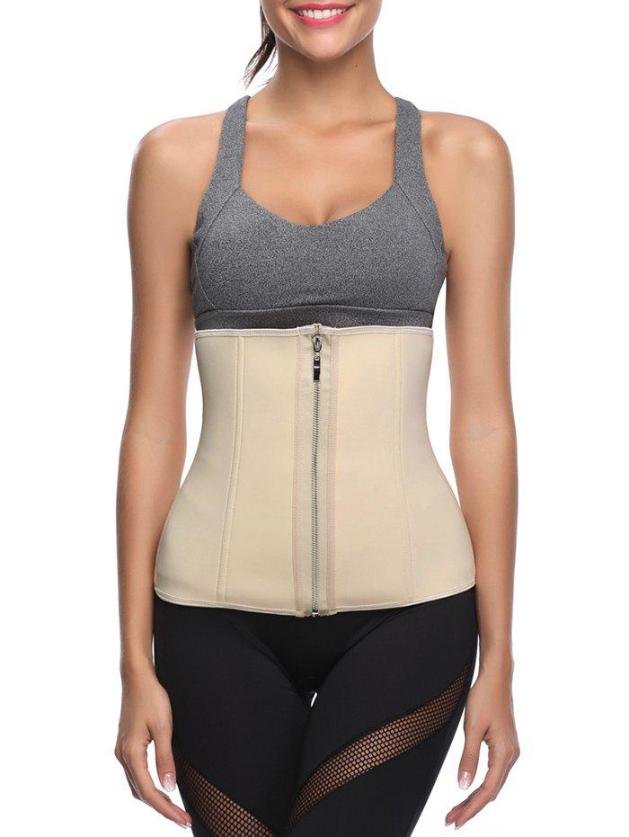 Chic Zip Up Elastic Underbust Corset
