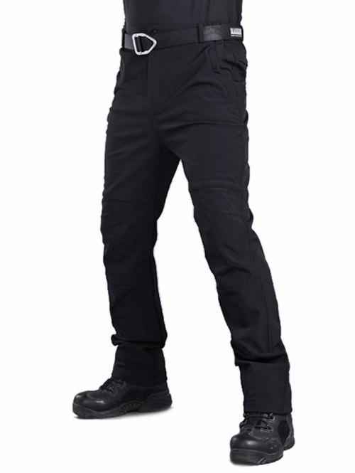 Trendy Long Straight Solid Color Plush Casual Pants
