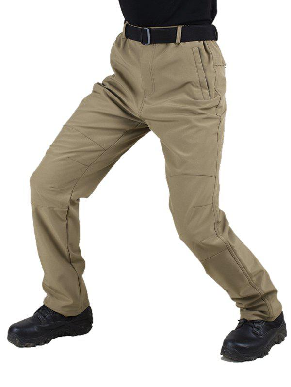 Outfit Long Straight Solid Color Plush Pants