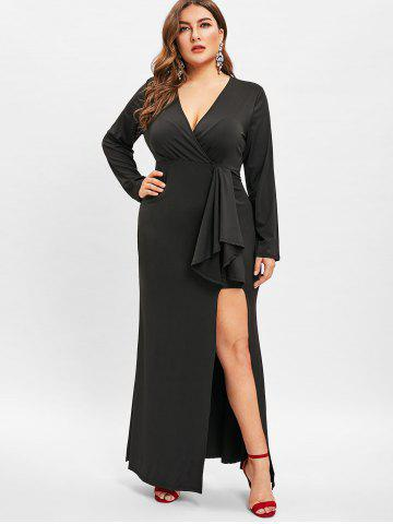 Long Black Slit Dress Free Shipping Discount And Cheap Sale