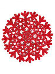 Snowflake Pattern Hollow Out Placemat -
