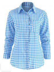 Casual Button Up Checked Shirt -