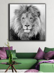 Lion Pattern Canvas Painting Wall Art -