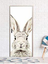 Rabbit Print Door Art Stickers -