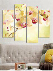 Flower Printed Wall Art Canvas Painting -