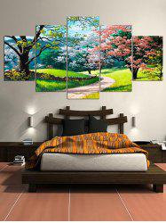 Colorful Tree Pathway Scenery Print Canvas Paintings -