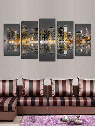 Reflection Builds Print Split Unframed Canvas Paintings -
