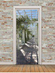 Outdoor Corridor Print Door Art Stickers -